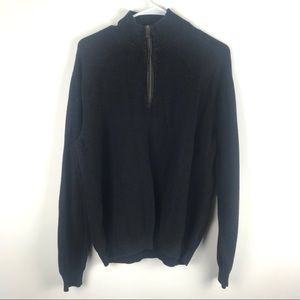Nordstrom Large Half Zip Mock Turtleneck Sweater